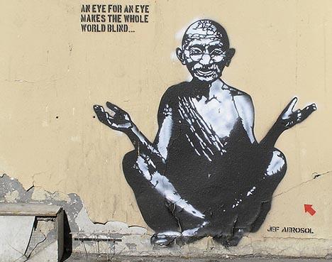 ghandi-streetart